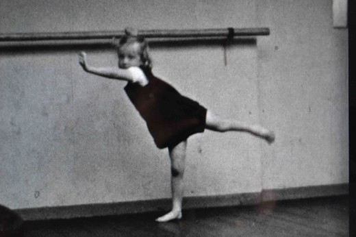 Still from 'Dance School' (O'Laoghaire, 1943) showing Margaret Becker as a child